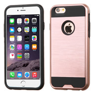 Brushed Hybrid Armor Case for iPhone 6 Plus / 6S Plus - Rose Gold