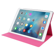 Rotating Multi-Angle Stand Smart Leather Case for iPad Pro 12.9 inch - Hot Pink
