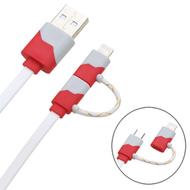 *SALE* Mybat 2-IN-1 Lightning and Micro USB Connector Charging & Sync Cable - Red White