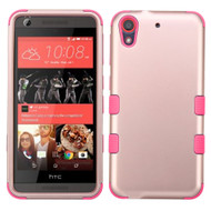 Military Grade TUFF Hybrid Case for HTC Desire 650 / 626 / 555 / 550 / 530 - Rose Gold Hot Pink