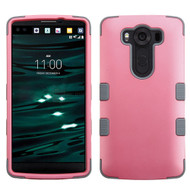 Military Grade Certified TUFF Hybrid Case for LG V10 - Pearl Pink Grey