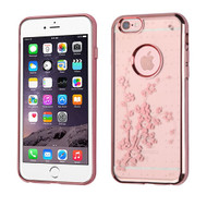 SPOTS Electroplated Premium Candy Skin Cover for iPhone 6 / 6S - Spring Flowers Rose Gold