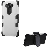 Military Grade Certified TUFF Hybrid Case with Holster for LG V10 - Grey
