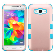 Military Grade Certified TUFF Hybrid Case for Samsung Galaxy Grand Prime - Rose Gold Teal