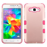 Military Grade Certified TUFF Hybrid Case for Samsung Galaxy Grand Prime - Rose Gold Hot Pink