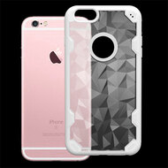 Challenger Polygon Hybrid Case for iPhone 6 / 6S - White