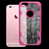 Challenger Polygon Hybrid Case for iPhone 6 / 6S - Hot Pink