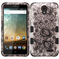 Military Grade Certified TUFF Image Hybrid Case for ZTE Avid Plus / Maven 2 / Prestige / Sonata 3 - Leaf Rose Gold