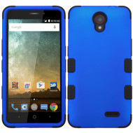 Military Grade Certified TUFF Hybrid Case for ZTE Avid Plus / Maven 2 / Prestige / Sonata 3 - Blue