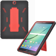 *Sale* Explorer Impact Armor Kickstand Hybrid Case for Samsung Galaxy Tab S2 9.7 - Black Red