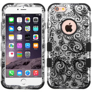 Military Grade Certified TUFF Image Hybrid Case for iPhone 6 / 6S - Leaf Clover Black