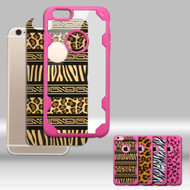Challenger FreeStyle Hybrid Case with Designer Inserts for iPhone 6 / 6S - Leopard and Zebra