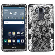 Military Grade Certified TUFF Image Hybrid Case for LG G Stylo / Vista 2 - Leaf Clover Black