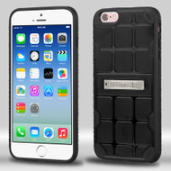 DefyR Hybrid Case with Stand for iPhone 6 / 6S - Square Black