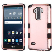 Military Grade Certified TUFF Hybrid Case for LG G Stylo / Vista 2 - Rose Gold Electroplating