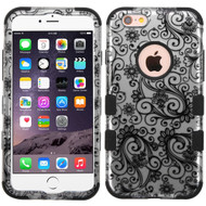 Military Grade Certified TUFF Image Hybrid Case for iPhone 6 Plus / 6S Plus - Leaf Clover Black