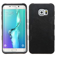 Military Grade Certified TUFF Image Hybrid Case for Samsung Galaxy S6 Edge Plus - Carbon Fiber