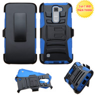 *SALE* Advanced Armor Hybrid Kickstand Case with Holster for LG K7 / K8 / Escape 3 / Treasure LTE / Tribute 5 - Blue