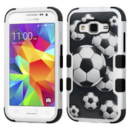 *Sale* Military Grade TUFF Image Hybrid Case for Samsung Galaxy Core Prime / Prevail LTE - Soccer Ball