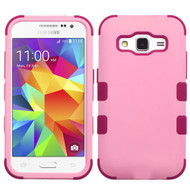 *Sale* Military Grade TUFF Hybrid Case for Samsung Galaxy Core Prime / Prevail LTE - Soft Pink Rose