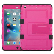 Military Grade Certified TUFF Hybrid Armor Case with Stand for iPad Mini - Hot Pink