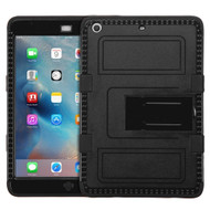 Military Grade TUFF Hybrid Armor Case with Stand for iPad Mini - Black