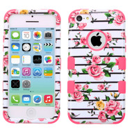 *SALE* Military Grade TUFF Image Hybrid Case for iPhone 5C - Pink Fresh Roses