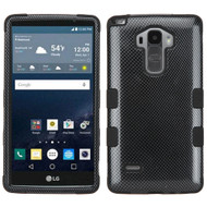 Military Grade Certified TUFF Image Hybrid Case for LG G Stylo / Vista 2 - Carbon Fiber
