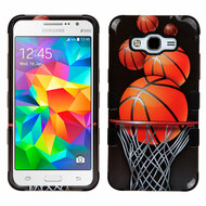 Military Grade Certified TUFF Image Hybrid Case for Samsung Galaxy Grand Prime - Basketball Hoop
