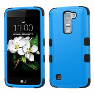 Military Grade Certified TUFF Hybrid Armor Case for LG K7 / Treasure LTE / Tribute 5 - Blue