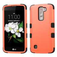 Military Grade Certified TUFF Hybrid Armor Case for LG K7 / Treasure LTE / Tribute 5 - Orange