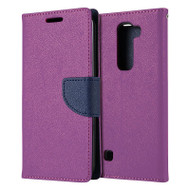 *Sale* Leather Wallet Shell Case for LG K7 / K8 / Escape 3 / Treasure LTE / Tribute 5 - Purple