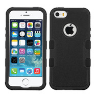 Military Grade TUFF Hybrid Case for iPhone SE / 5S / 5 - Black