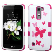 Military Grade Certified TUFF Image Hybrid Armor Case for LG K7 / Treasure LTE / Tribute 5 - Butterfly