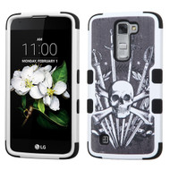 Military Grade Certified TUFF Image Hybrid Case for LG K7 / Treasure LTE / Tribute 5 - Sword and Skull