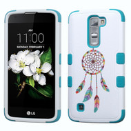 Military Grade TUFF Image Hybrid Armor Case for LG K7 / K8 / Escape 3 / Treasure LTE / Tribute 5 - Pastel Dreamcatcher