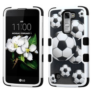 Military Grade Certified TUFF Image Hybrid Armor Case for LG K7 / Treasure LTE / Tribute 5 - Soccer Ball