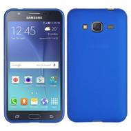 Rubberized Crystal Case for Samsung Galaxy Amp Prime / Express Prime / J3 / Sol - Blue