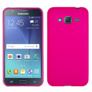 Rubberized Crystal Case for Samsung Galaxy Amp Prime / Express Prime / J3 / Sol - Hot Pink