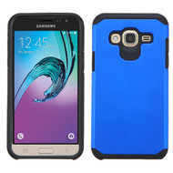 Hybrid Multi-Layer Armor Case for Samsung Galaxy Amp Prime / Express Prime / J3 / Sol - Blue
