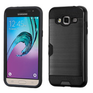 Card To Go Hybrid Case for Samsung Galaxy Amp Prime / Express Prime / J3 / Sol - Black