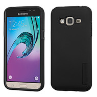 Pro Shield Hybrid Armor Case for Samsung Galaxy Amp Prime / Express Prime / J3 / Sol - Black