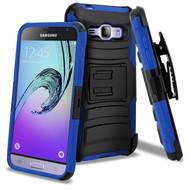 *SALE* Advanced Armor Hybrid Kickstand Case + Holster for Samsung Galaxy Amp Prime / Express Prime / J3 / Sol - Blue