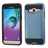 Brushed Hybrid Armor Case for Samsung Galaxy Amp Prime / Express Prime / J3 / Sol - Ink Blue