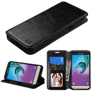 Book-Style Leather Folio Case for Samsung Galaxy Amp Prime / Express Prime / J3 / Sol - Black