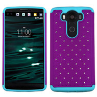 TotalDefense Diamond Hybrid Case for LG V10 - Purple Teal
