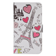 *Sale* Executive Graphic Leather Wallet Case for LG G Stylo / Vista 2 - Eiffel Tower