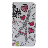 *Sale* Executive Graphic Leather Wallet Case for Samsung Galaxy Grand Prime - Eiffel Tower