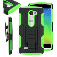 *SALE* Robust Armor Stand Protector Cover with Holster for LG K7 / K8 / Escape 3 / Treasure LTE / Tribute 5 - Green