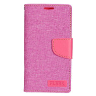 *Sale* Leather Fabric Wallet Book Case for LG K7 / K8 / Escape 3 / Treasure LTE / Tribute 5 - Pink